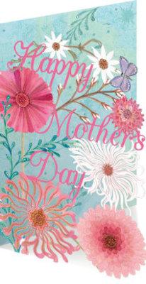 Roger La Borde Mother's Day Blooms Lasercut Card (GC 1927M)