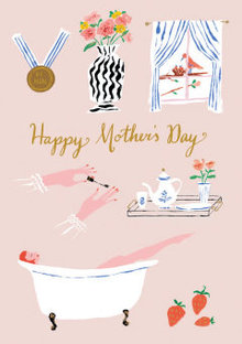 Roger La Borde Relaxing Mother's Day Greeting Card (GC 1987M)