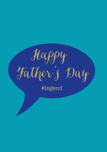 Roger La Borde Father's Day Legend Greeting Card (GC 1988M)