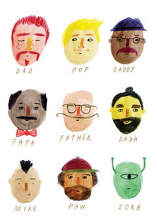 Roger La Borde Father's Faces Greeting Card (GC 1989)