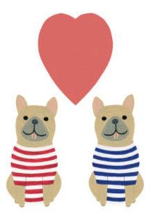 Roger La Borde Puppy Love Greeting Card (GCN 155)
