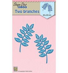 Nellie Snellen Shape Die Blue Two Branches (SDB022)