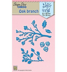 Nellie Snellen Shape Die Blue Oak Branches (SDB024)