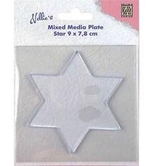 Nellie Snellen Mixed Media Plate Star 8,8cm (NMMP007)