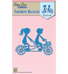 Nellie Snellen Shape Die Blue Tandem Bicycle (SDB029)