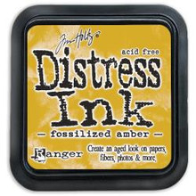 Ranger Distress Ink Pad Fossilized Amber (TIM43225)