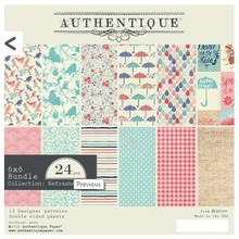 Authentique Refreshed 6x6 Inch Paper Pad (REF008)