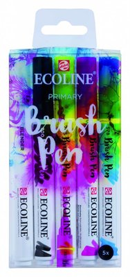 Talens Ecoline Brush Pen Set Primary (11509900)