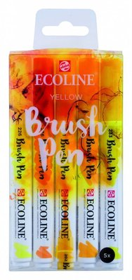 Talens Ecoline Brush Pen Set Yellow (11509902)