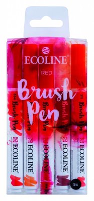Talens Ecoline Brush Pen Set Red (11509903)