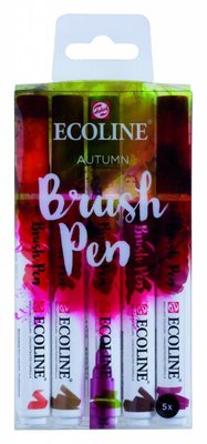 Talens Ecoline Brush Pen Set Autumn (11509904)