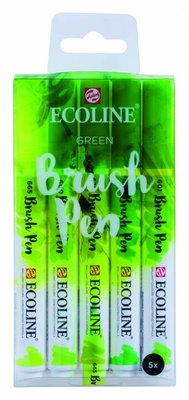 Talens Ecoline Brush Pen Set Green (11509906)