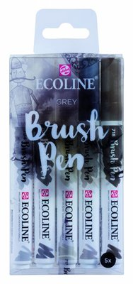 Talens Ecoline Brush Pen Set Grey (11509907)