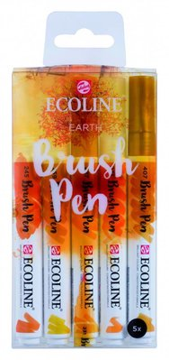 Talens Ecoline Brush Pen Set Earth (11509908)