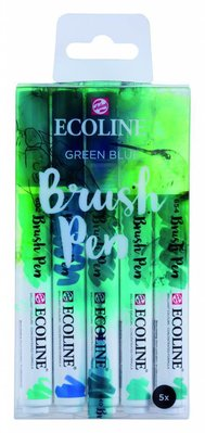 Talens Ecoline Brush Pen Set Green Blue (11509909)