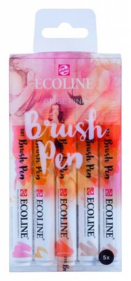 Talens Ecoline Brush Pen Set Beige Pink (11509911)