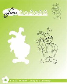 By Lene Metal Dies + Clear Stamp Rabbit With Carrot (BLD1060)