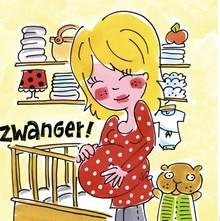 Blond Amsterdam Zwanger! Wenskaart (BL177)