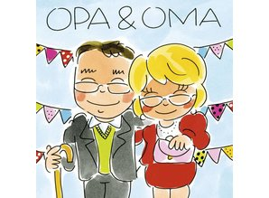 Blond Amsterdam Opa & Oma Wenskaart (BL256)