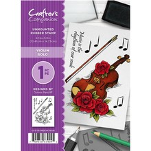 Crafter's Companion Violin Solo Unmounted Rubber Stamp Set (CC-ST-VS)