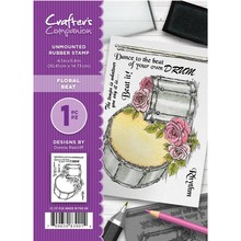 Crafter's Companion Floral Beat Unmounted Rubber Stamp Set (CC-ST-FLB)