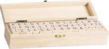 Heyda Alfabet Stempel Set In Houten Kist (204888681)