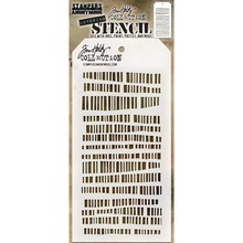 Stampers Anonimous Tim Holtz Code Layering Stencil (THS102)