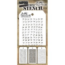 Stampers Anonimous Tim Holtz Mini Layering Stencil Set 33 (THMST033)
