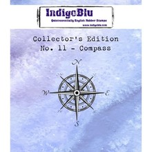 IndigoBlu Collectors Edition 11 Rubber Stamp - Compass (IND0388)