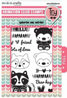 Uchi's Design Animation Clear Stamp & Dies Critters (AS13)