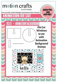 Uchi's Design Animation Die-Cut Set Animation Background Windows (DC112)