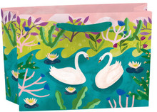 Roger La Borde Swanning Around Gift Bag Small Landscape With Tag (BG 330B)