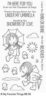 My Favorite Things Rain Or Shine Clear Stamps (BB-58)