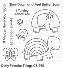 My Favorite Things Too-Cute Turtles Clear Stamps (CS-290)