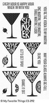 My Favorite Things Martini Time Clear Stamps (CS-292)