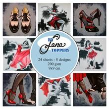 By Lene Toppers 9x9cm Dance (BLT003)