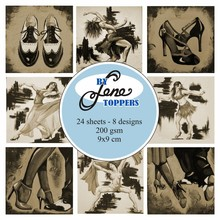 By Lene Toppers 9x9cm Dance Sepia (BLT004)