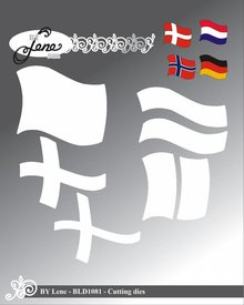 By Lene Metal Dies Large Flag (BLD1081)