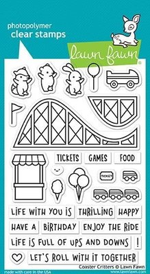 Lawn Fawn Coaster Critters Clear Stamps (LF1694)