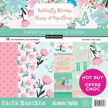Craft Smith Butterfly Blooms 12x12 Inch Paper Pad (MPP0349)