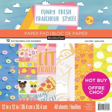 Craft Smith Funky Fresh 12x12 Inch Paper Pad (MPP0351)