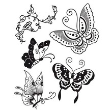 Stamperia Natural Rubber Stamps Butterfly (WTKCC19)