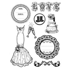 Stamperia Natural Rubber Stamps Wedding (WTKCC22)