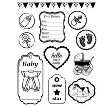 Stamperia Natural Rubber Stamps Baby (WTKCC23)