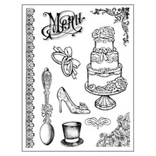 Stamperia Natural Rubber Stamps Wedding (WTKCC102)