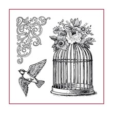 Stamperia Natural Rubber Stamp Cage (WTKCC141)