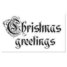 Stamperia Natural Rubber Stamp Christmas Greetings (WTKCC31)