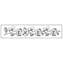 Stamperia Natural Rubber Stamp Flowers Bordure (WTKCC77)