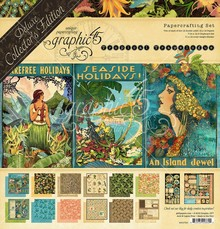 Graphic 45 Tropical Travelogue 12x12 Inch Deluxe Collectors Edition (4501723)
