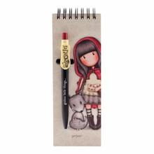 Gorjuss Little Red Riding Hood Jotter Pad With Pen (799GJ09)